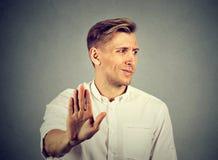 Νεαρός άνδρας Αρνητική ανθρώπινη συγκίνηση στοκ φωτογραφίες