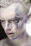 Νεαρός άνδρας με τη δημιουργική σύνθεση Στοκ Εικόνα