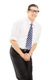 Νεαρός άνδρας με το πρόβλημα ελέγχου κύστεων στοκ φωτογραφίες με δικαίωμα ελεύθερης χρήσης