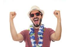 Νεαρός άνδρας που γιορτάζει καρναβάλι Στοκ φωτογραφία με δικαίωμα ελεύθερης χρήσης
