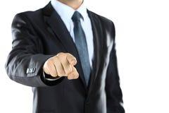 Νεαρός άνδρας που δείχνει ένα δάχτυλο προς σας Στοκ Εικόνα