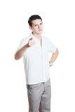 Νεαρός άνδρας που δείχνει ένα δάχτυλο Στοκ φωτογραφίες με δικαίωμα ελεύθερης χρήσης