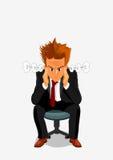Νεαρός άνδρας που εκρήγνυται με το θυμό και την οργή διανυσματική απεικόνιση