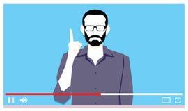 Νεαρός άνδρας που μιλά στο βίντεο Διαδικτύου Στοκ Φωτογραφία