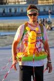 Νεαρός άνδρας που συμμετέχει στο χρώμα που οργανώνεται στην Τεργέστη, Ιταλία Στοκ Φωτογραφίες