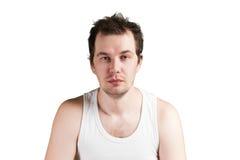 Νεαρός άνδρας που φαίνεται νυσταλέος Στοκ φωτογραφίες με δικαίωμα ελεύθερης χρήσης