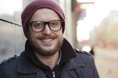 Νεαρός άνδρας στα γυαλιά Στοκ Εικόνα