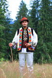 Νεαρός άνδρας στο κοστούμι hutsul Στοκ Φωτογραφία