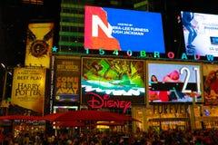 ΝΕΑ ΥΌΡΚΗ, ΗΠΑ - 30 Αυγούστου 2018: Οδοί πόλεων της Νέας Υόρκης, Broadway, χρονικό τετράγωνο στοκ εικόνα