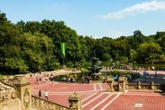 ΝΕΑ ΥΌΡΚΗ, ΗΠΑ - 30 Αυγούστου 2018: Όμορφη άποψη του κεντρικού πάρκου στη Νέα Υόρκη στοκ εικόνα