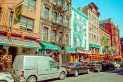 ΝΕΑ ΥΌΡΚΗ, ΗΠΑ - 5 ΜΑΐΟΥ 2017: Οι οδοί του Μανχάταν Νέα Υόρκη και συγκεκριμένα η μικρή περιοχή της Ιταλίας στη Νέα Υόρκη ΗΠΑ Στοκ φωτογραφία με δικαίωμα ελεύθερης χρήσης