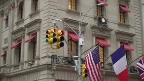 ΝΕΑ ΥΌΡΚΗ, ΗΠΑ - 5 ΜΑΐΟΥ 2019: Φωτεινοί σηματοδότες πόλεων της Νέας Υόρκης φιλμ μικρού μήκους