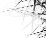 Νεβρική σύσταση με τις χαοτικές, τυχαίες γραμμές Αφηρημένο γεωμετρικό illu ελεύθερη απεικόνιση δικαιώματος