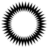 Νεβρικό στοιχείο κύκλων τρεκλίσματος Αφηρημένος μονοχρωματικός κύκλος διανυσματική απεικόνιση