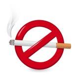 νεκρή απαγόρευση του καπνίσματος Στοκ φωτογραφία με δικαίωμα ελεύθερης χρήσης