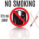 νεκρή απαγόρευση του καπνίσματος Διανυσματική απεικόνιση