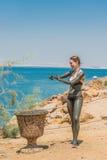 Νεκρή επεξεργασία Ιορδανία προσοχής σωμάτων λάσπης θάλασσας Στοκ εικόνα με δικαίωμα ελεύθερης χρήσης