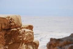 Νεκρή θάλασσα από Masada Στοκ Εικόνες