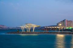 νεκρή θάλασσα βραδιού Ξενοδοχείο του Leonardo στοκ φωτογραφία με δικαίωμα ελεύθερης χρήσης
