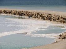 Νεκρή θάλασσα. Ισραήλ Στοκ Φωτογραφία