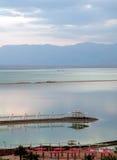 Νεκρή θάλασσα στην αυγή στοκ εικόνες