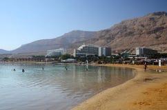Νεκρή θάλασσα στο Ισραήλ, μια περιοχή θερέτρου Στοκ Εικόνες