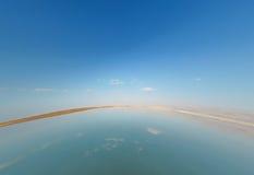 Νεκρή θάλασσα τοπίων στο Ισραήλ Στοκ φωτογραφία με δικαίωμα ελεύθερης χρήσης