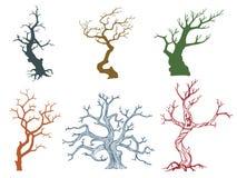 Νεκρή διανυσματική απεικόνιση δέντρων απεικόνιση αποθεμάτων
