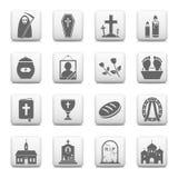 Νεκρικά εικονίδια Στοκ Εικόνα