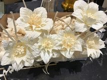 Νεκρικό ξύλινο εθελοντικό εργαστήριο λουλουδιών Στοκ Εικόνες