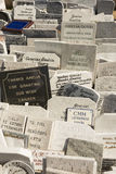 Νεκροταφείο Αβάνα άνω και κάτω τελειών ταφοπέτρων Στοκ φωτογραφία με δικαίωμα ελεύθερης χρήσης