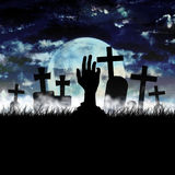 Νεκροταφείο αποκριών Zombie διανυσματική απεικόνιση