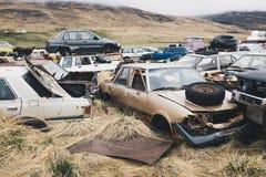 Νεκροταφείο αυτοκινήτων Στοκ Εικόνα