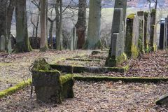 Νεκροταφείο νεκροταφείων Jewich Στοκ εικόνα με δικαίωμα ελεύθερης χρήσης