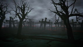 Νεκροταφείο νύχτας φρίκης, τάφος σεληνόφωτο ημερολογιακής έννοιας ημερομηνίας ο απαίσιος μικροσκοπικός θεριστής εκμετάλλευσης απο διανυσματική απεικόνιση