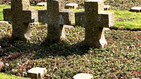 Νεκροταφείο παγκόσμιου πολέμου απόθεμα βίντεο