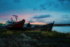 Νεκροταφείο σκαφών Natales Puerto στοκ φωτογραφίες