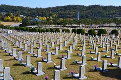 Νεκροταφείο στη Νότια Κορέα Στοκ φωτογραφίες με δικαίωμα ελεύθερης χρήσης