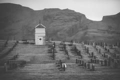 Νεκροταφείο στον τομέα Στοκ εικόνες με δικαίωμα ελεύθερης χρήσης