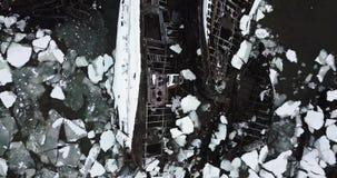 Νεκροταφείο των σκαφών Teriberka απόθεμα βίντεο