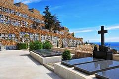 Νεκροταφείο Montjuic στη Βαρκελώνη, Ισπανία Στοκ εικόνα με δικαίωμα ελεύθερης χρήσης