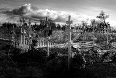 νεκροταφείο ninilchik πλησίον ρωσικά της Αλάσκας Στοκ Εικόνες