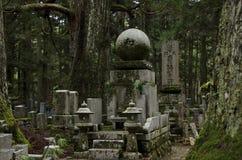 νεκροταφείο okunoin Στοκ Φωτογραφίες
