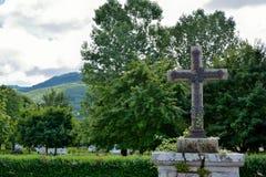 Νεκροταφείο vic-sur-ξηρού Σταυρός σιδήρου Στοκ Φωτογραφία