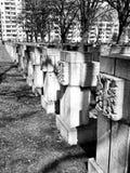 Νεκρόπολη Γντανσκ Zaspa, Πολωνία Καλλιτεχνικός κοιτάξτε σε γραπτό Στοκ εικόνες με δικαίωμα ελεύθερης χρήσης