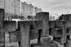 Νεκρόπολη Γντανσκ Zaspa, Πολωνία Καλλιτεχνικός κοιτάξτε στο Μαύρο και το μόριο Στοκ εικόνα με δικαίωμα ελεύθερης χρήσης