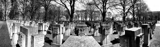 Νεκρόπολη Γντανσκ Zaspa, Πολωνία Πανόραμα, καλλιτεχνική άποψη σε γραπτό Στοκ φωτογραφία με δικαίωμα ελεύθερης χρήσης