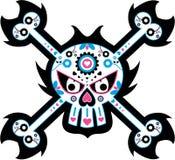 νεκρό μεξικάνικο κρανίο ημέ& Στοκ Εικόνα