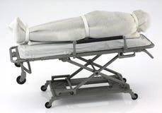 Νεκρό πρόσωπο στο gurney νοσοκομείων Στοκ εικόνα με δικαίωμα ελεύθερης χρήσης