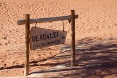 Νεκρό σημάδι Vlei, έρημος Namib, Ναμίμπια Στοκ Εικόνες